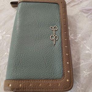 Jessica Simpson Musty Turquoise Zip Around Wallet